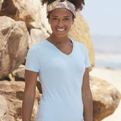 Ladies Fitted V Neck T-Shirt by Fruit of the Loom